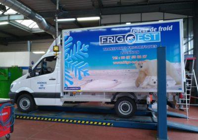Déco adhésive personnalisée flotte de véhicules
