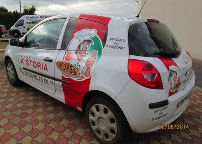 Autocollant publicité pizzeria
