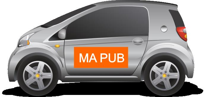 Autocollant pour publicité voiture