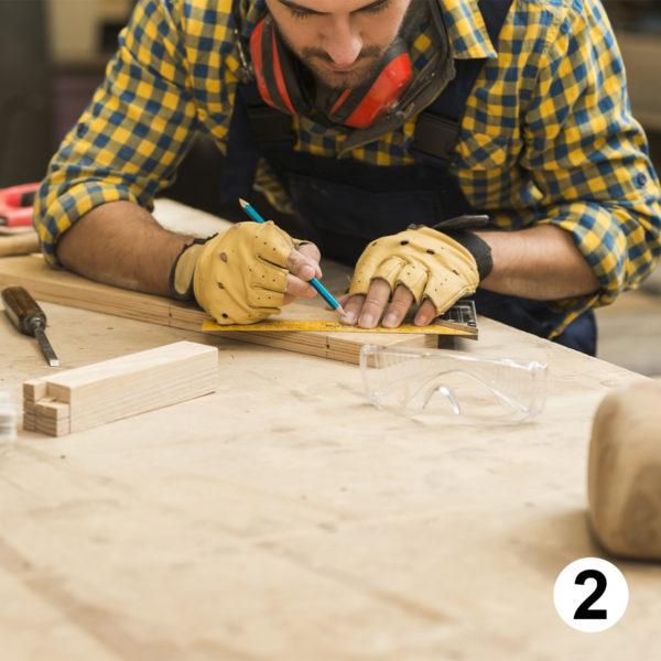 Maquette d'autocollants charpentier couvreur