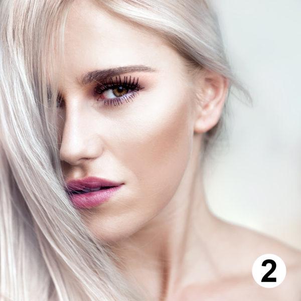 Maquette d'autocollants coiffure