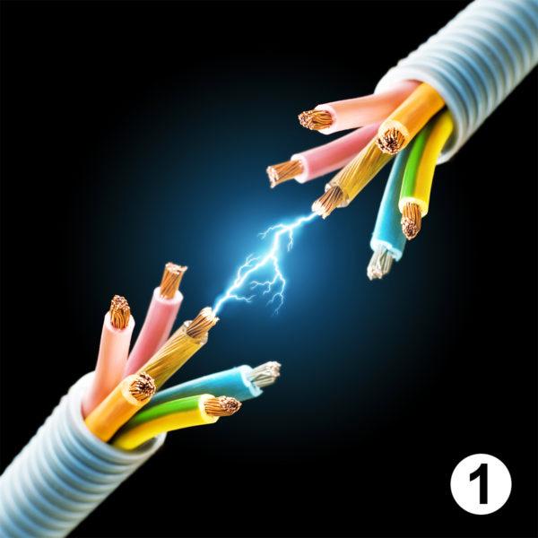 Maquette d'autocollants produits éléctricien