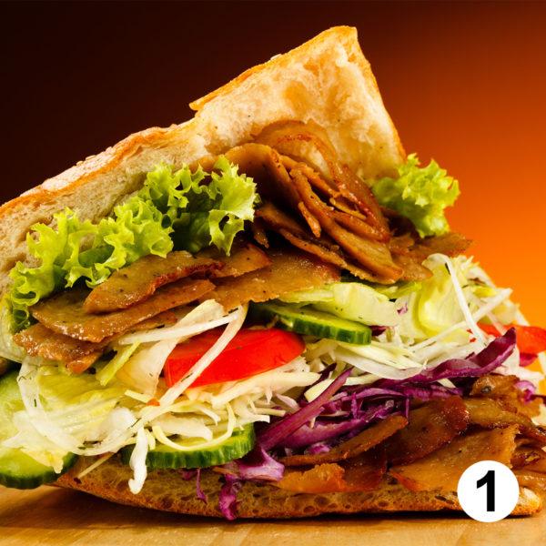 Maquette d'autocollants kebab