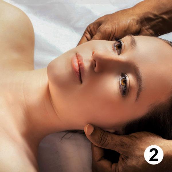 Maquette d'autocollants produits massage
